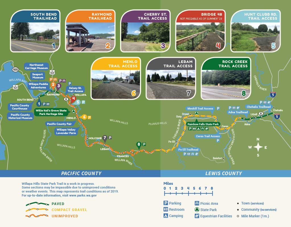 Willapa Hills Trail Map